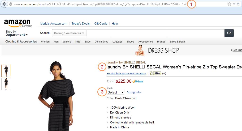 Платье на Amazon.com