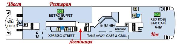 Схема ресторанной палубы